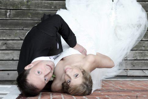 Hochzeitsshooting im Freien